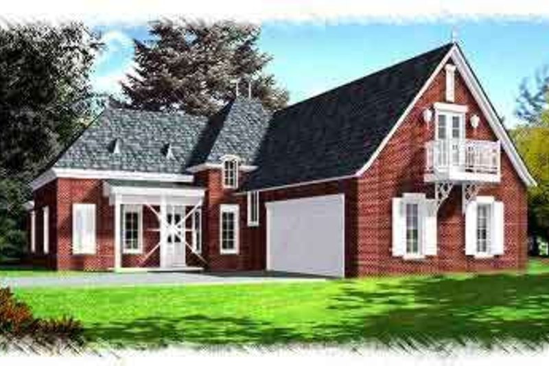 European Exterior - Front Elevation Plan #15-274 - Houseplans.com