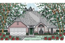 Home Plan - Traditional Exterior - Front Elevation Plan #42-724