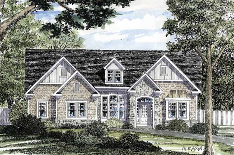 European Exterior - Front Elevation Plan #316-268 - Houseplans.com