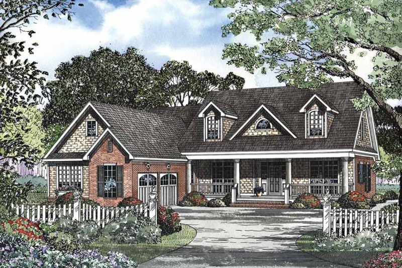 Country Exterior - Front Elevation Plan #17-3043