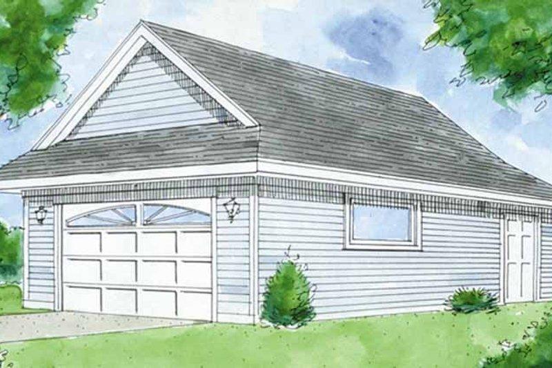 Exterior - Front Elevation Plan #410-3606 - Houseplans.com