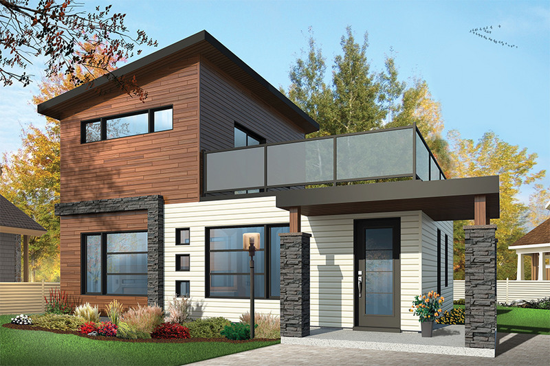 Contemporary Exterior - Front Elevation Plan #23-2297
