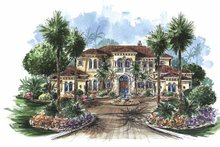 Mediterranean Exterior - Front Elevation Plan #1017-75