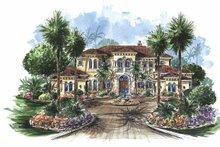 House Plan Design - Mediterranean Exterior - Front Elevation Plan #1017-75