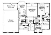 Traditional Style House Plan - 3 Beds 2 Baths 1706 Sq/Ft Plan #46-903