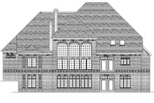 European Exterior - Rear Elevation Plan #1057-3