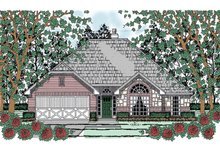 Architectural House Design - Traditional Exterior - Front Elevation Plan #42-718