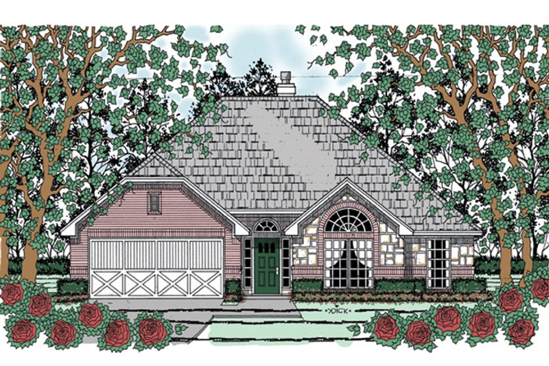 House Plan Design - Traditional Exterior - Front Elevation Plan #42-718