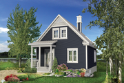 Country Style House Plan - 2 Beds 2 Baths 1015 Sq/Ft Plan #25-4310 Exterior - Front Elevation