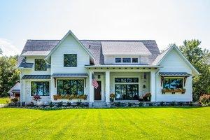 Dream House Plan - Farmhouse Exterior - Front Elevation Plan #51-1132