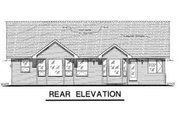 Craftsman Style House Plan - 2 Beds 2 Baths 1756 Sq/Ft Plan #18-4503 Exterior - Rear Elevation