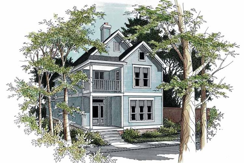 Classical Exterior - Front Elevation Plan #952-47 - Houseplans.com