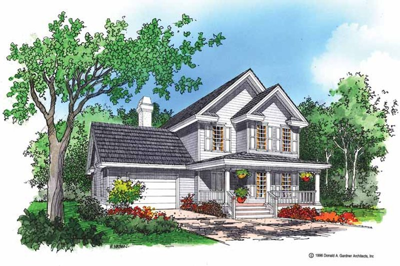 Country Exterior - Front Elevation Plan #929-253