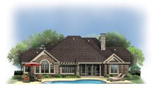 Craftsman Exterior - Rear Elevation Plan #929-908