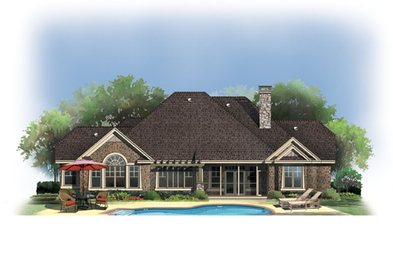 Craftsman Exterior - Rear Elevation Plan #929-908 - Houseplans.com