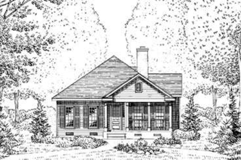 Cottage Exterior - Front Elevation Plan #410-222