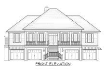 Architectural House Design - Country Exterior - Front Elevation Plan #1054-34