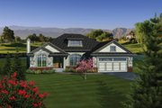 Traditional Style House Plan - 2 Beds 2 Baths 1849 Sq/Ft Plan #70-1080 Exterior - Front Elevation