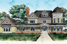 House Blueprint - Victorian Exterior - Front Elevation Plan #72-889