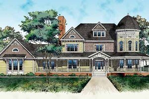 Victorian Exterior - Front Elevation Plan #72-889