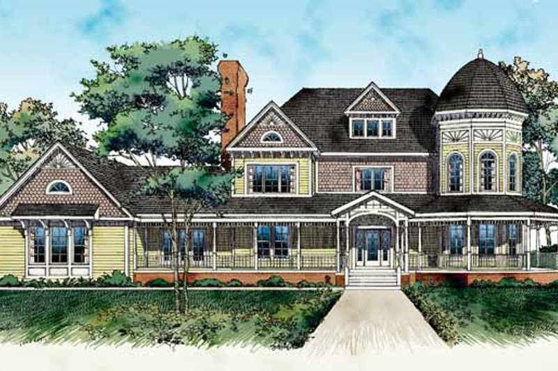House Blueprint - Victorian Exterior - Front Elevation Plan #72-889