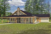 Country Style House Plan - 3 Beds 2 Baths 2008 Sq/Ft Plan #117-266 Exterior - Front Elevation