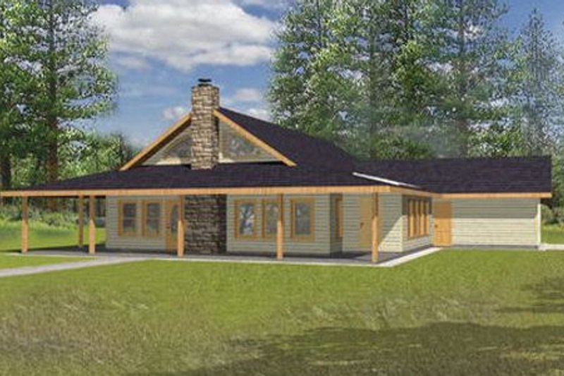 Country Exterior - Front Elevation Plan #117-266 - Houseplans.com