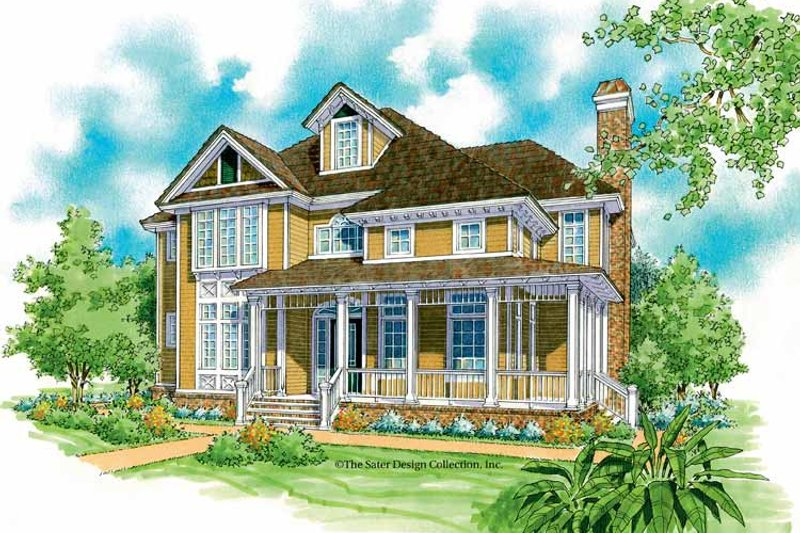 Victorian Exterior - Front Elevation Plan #930-198