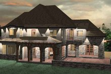 Country Exterior - Rear Elevation Plan #937-11