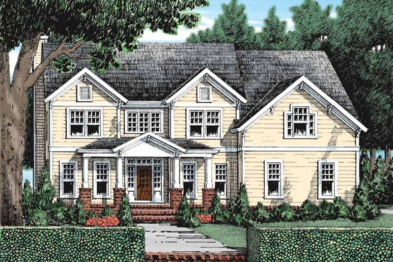 Craftsman Exterior - Front Elevation Plan #927-932 - Houseplans.com
