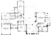 European Floor Plan - Upper Floor Plan Plan #48-962