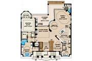 Mediterranean Style House Plan - 4 Beds 5.5 Baths 4735 Sq/Ft Plan #27-432 Floor Plan - Main Floor Plan