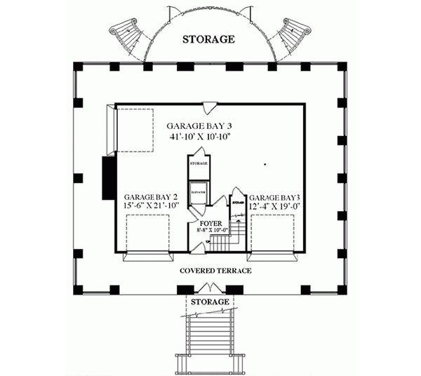 Southern Floor Plan - Lower Floor Plan Plan #137-254