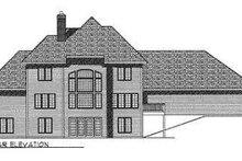 Dream House Plan - European Exterior - Rear Elevation Plan #70-495