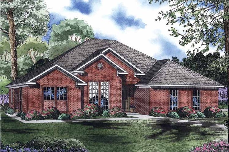 Ranch Exterior - Front Elevation Plan #17-2963
