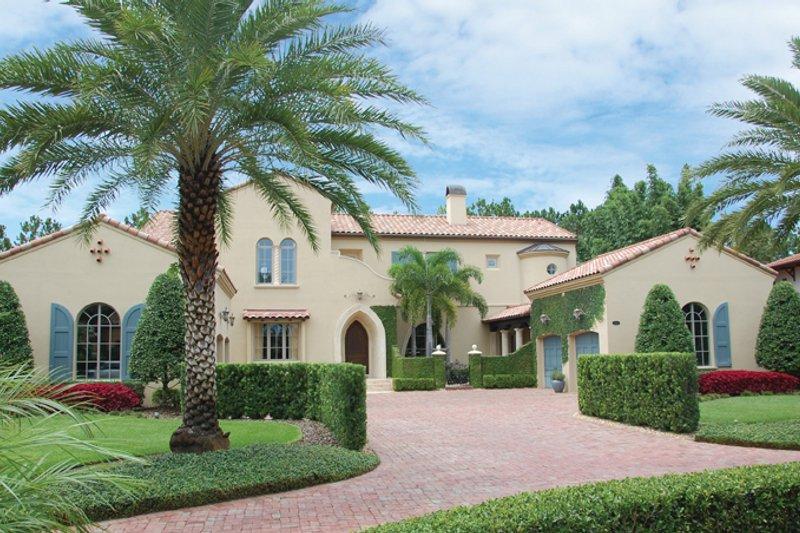 Dream House Plan - Mediterranean Exterior - Front Elevation Plan #1058-19