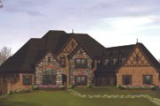 Tudor Style House Plan - 4 Beds 4.5 Baths 6088 Sq/Ft Plan #57-575 Exterior - Front Elevation