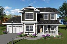 House Plan Design - Craftsman Exterior - Front Elevation Plan #70-1411