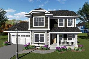 Craftsman Exterior - Front Elevation Plan #70-1411