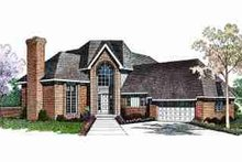 House Blueprint - Traditional Exterior - Front Elevation Plan #72-312