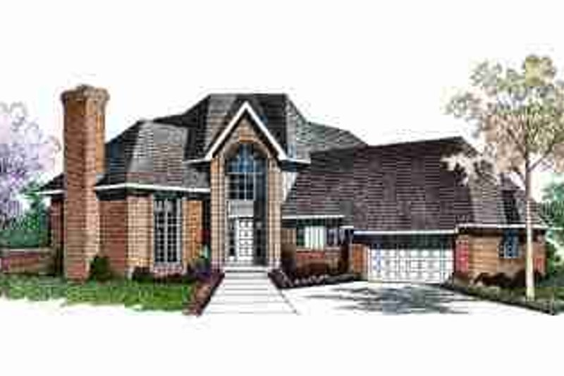 Traditional Exterior - Front Elevation Plan #72-312 - Houseplans.com