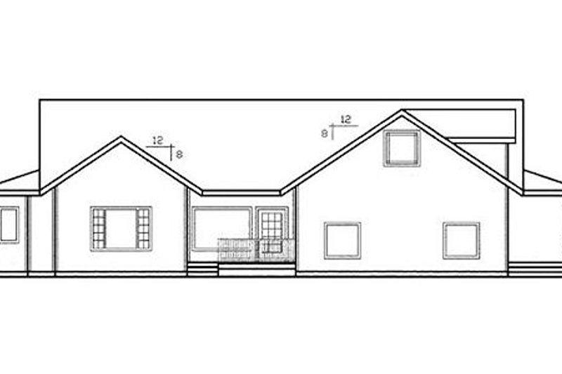 Ranch Exterior - Rear Elevation Plan #60-102 - Houseplans.com