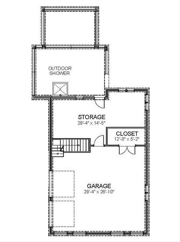 Beach Floor Plan - Lower Floor Plan Plan #898-44