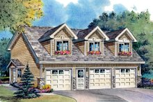 House Plan Design - Country Garage with living space plan
