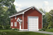House Plan - 0 Beds 0 Baths 648 Sq/Ft Plan #47-1068 Exterior - Front Elevation