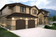 Contemporary Style House Plan - 4 Beds 4.5 Baths 4134 Sq/Ft Plan #1066-16 Exterior - Front Elevation