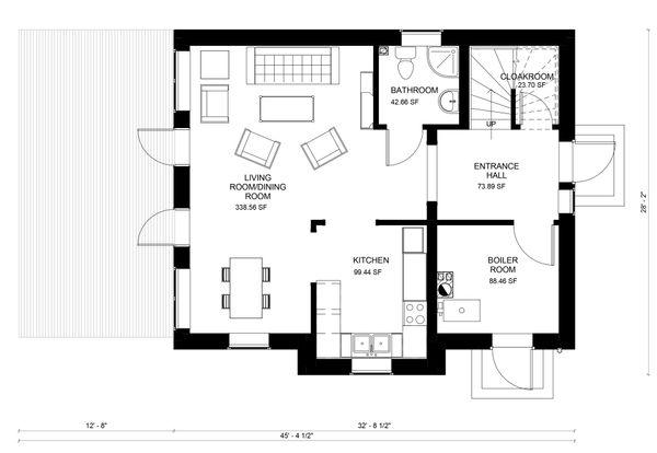 Traditional Floor Plan - Main Floor Plan #906-24