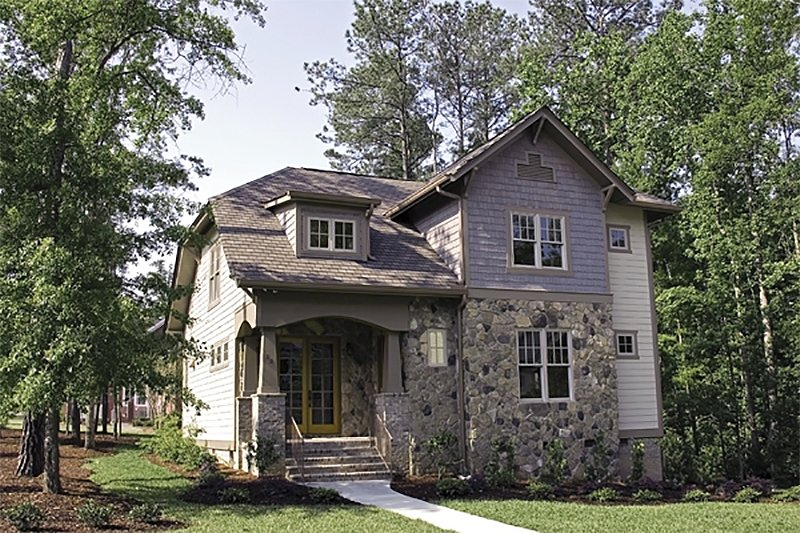 Dream House Plan - Craftsman Exterior - Front Elevation Plan #453-9