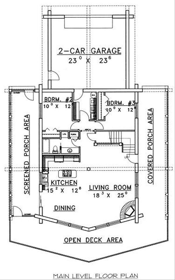 Log Floor Plan - Main Floor Plan Plan #117-504