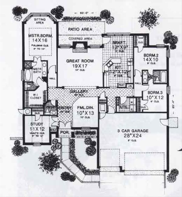 Traditional Floor Plan - Main Floor Plan #310-934